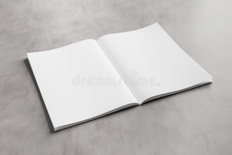 Άσπρο ανοικτό πρότυπο περιοδικών στη συγκεκριμένη τρισδιάστατη απόδοση διανυσματική απεικόνιση