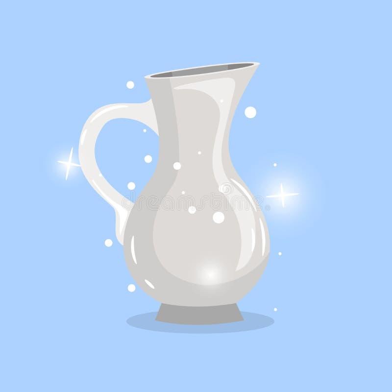 Άσπρο αντικείμενο καραφών κινούμενων σχεδίων ελεύθερη απεικόνιση δικαιώματος
