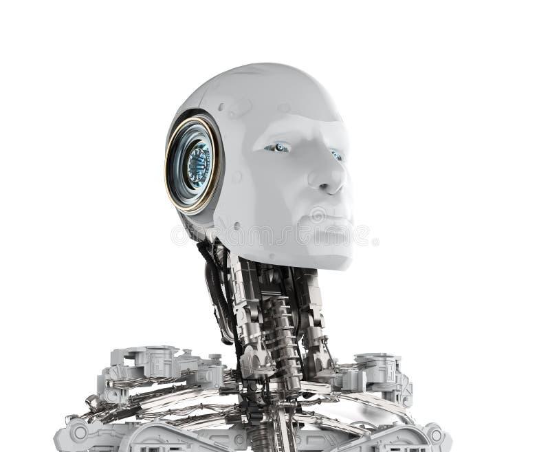 Άσπρο αρρενωπό ρομπότ στοκ φωτογραφία με δικαίωμα ελεύθερης χρήσης