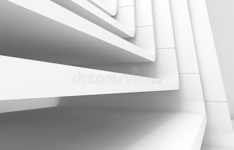 Άσπρο αφηρημένο σύγχρονο υπόβαθρο αρχιτεκτονικής απεικόνιση αποθεμάτων