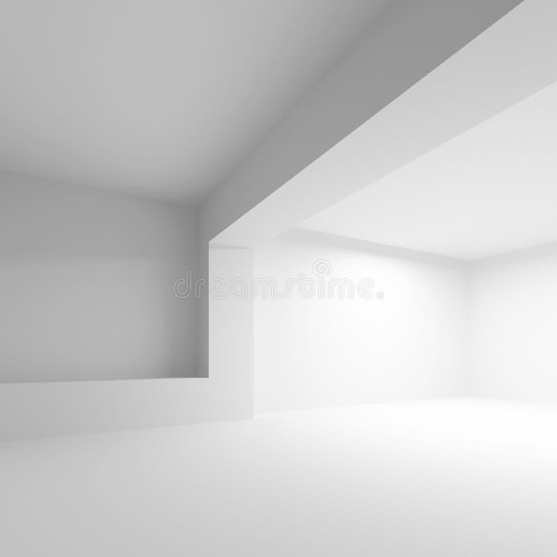 Άσπρο αφηρημένο υπόβαθρο αρχιτεκτονικής διανυσματική απεικόνιση