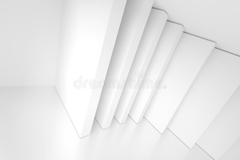 Άσπρο αφηρημένο υπόβαθρο αρχιτεκτονικής home interior modern ελεύθερη απεικόνιση δικαιώματος
