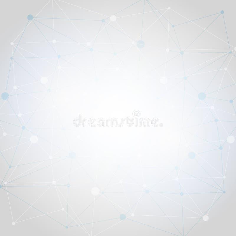 Άσπρο αφηρημένο polygonal διαστημικό χαμηλό πολυ υπόβαθρο με τις γραμμές διανυσματική απεικόνιση