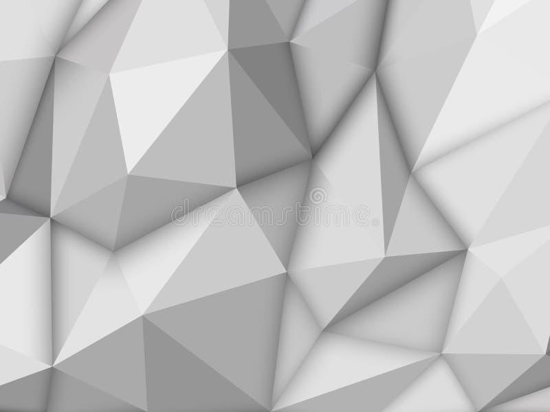Άσπρο αφηρημένο Polygonal υπόβαθρο απεικόνιση αποθεμάτων