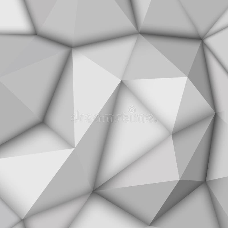 Άσπρο αφηρημένο Polygonal υπόβαθρο ελεύθερη απεικόνιση δικαιώματος