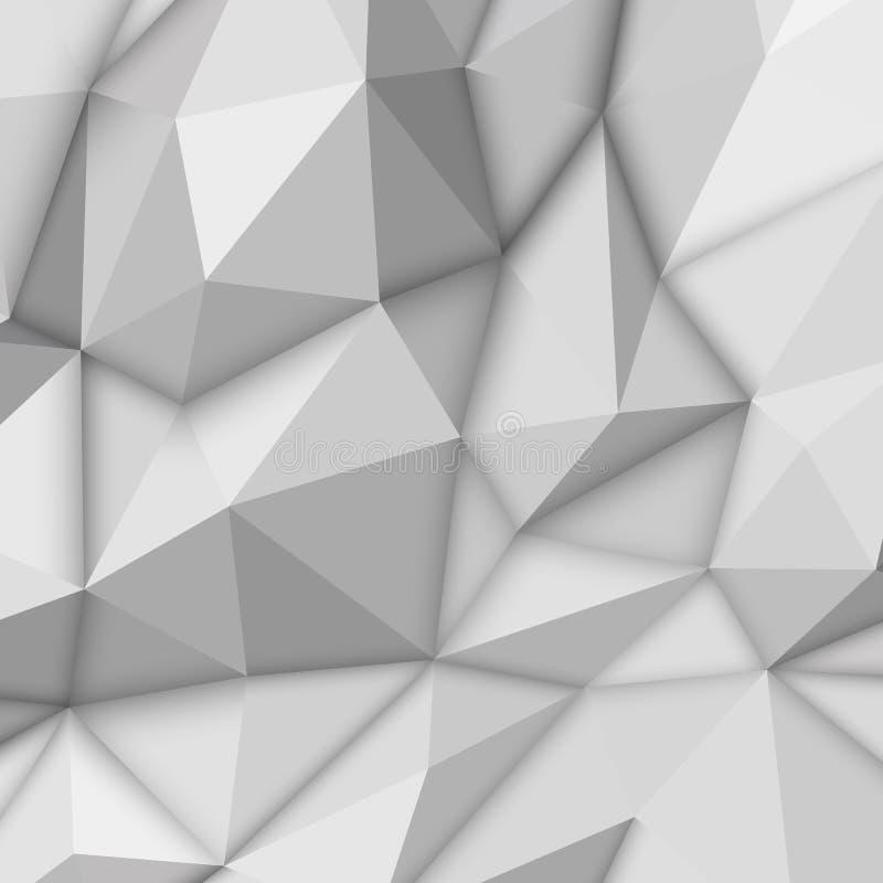 Άσπρο αφηρημένο Polygonal υπόβαθρο διανυσματική απεικόνιση