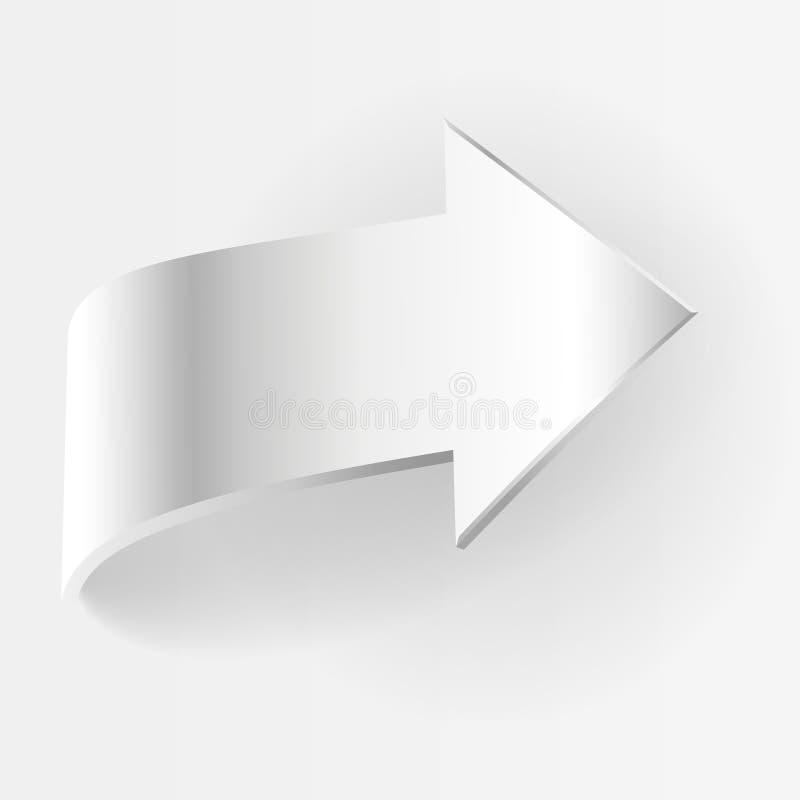 Άσπρο βέλος επίσης corel σύρετε το διάνυσμα απεικόνισης απεικόνιση αποθεμάτων