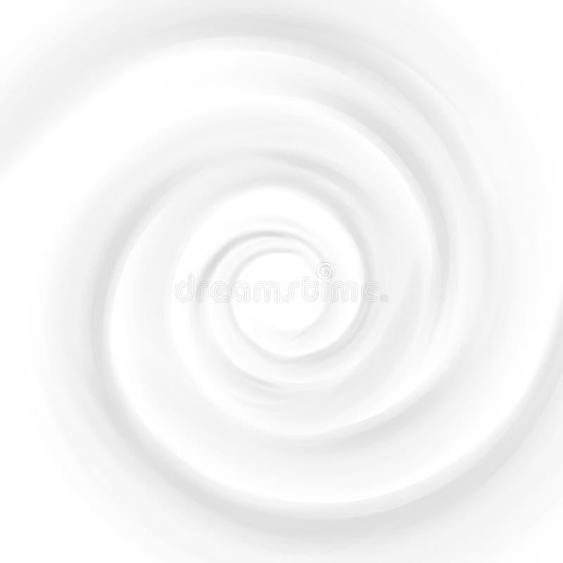 Άσπρο γάλα, γιαούρτι, απεικόνιση κρέμας στροβίλου προϊόντων καλλυντικών Mousse δίνη και δίνη Υπόβαθρο σύστασης κρέμας στροβίλου ελεύθερη απεικόνιση δικαιώματος