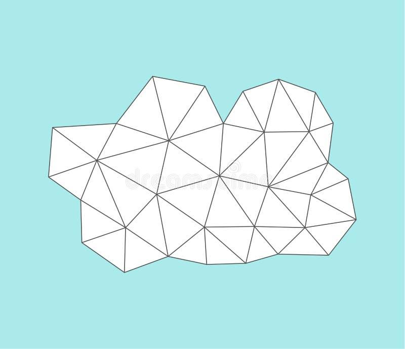 Άσπρο γεωμετρικό σύννεφο ελεύθερη απεικόνιση δικαιώματος