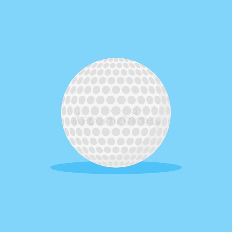 Άσπρο γκολφ εικονίδιο ύφους σφαιρών επίπεδο επίσης corel σύρετε το διάνυσμα απεικόνισης ελεύθερη απεικόνιση δικαιώματος