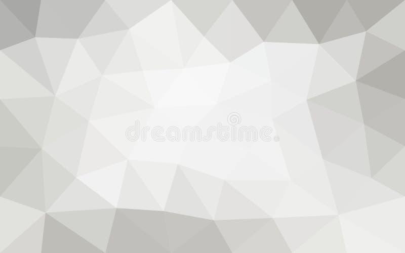 Άσπρο, γκρίζο, αφηρημένο γεωμετρικό υπόβαθρο, διάνυσμα από τα πολύγωνα, τρίγωνο, διανυσματική απεικόνιση απεικόνιση αποθεμάτων