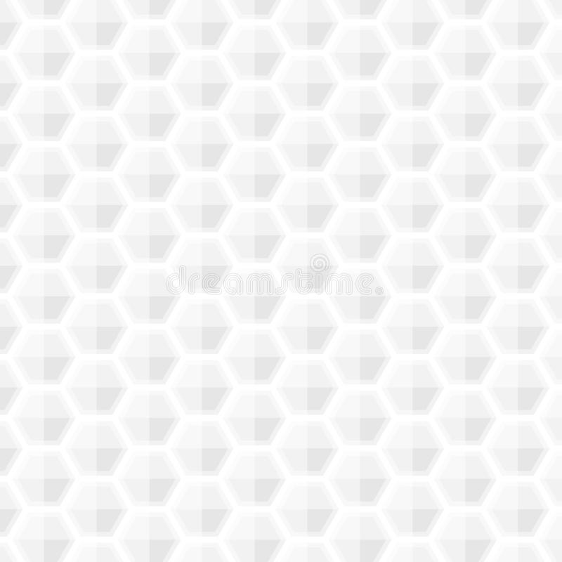 Άσπρο γκρίζο γεωμετρικό κυψελωτής αφηρημένο σύστασης μαλακό ελαφρύ ύ ελεύθερη απεικόνιση δικαιώματος