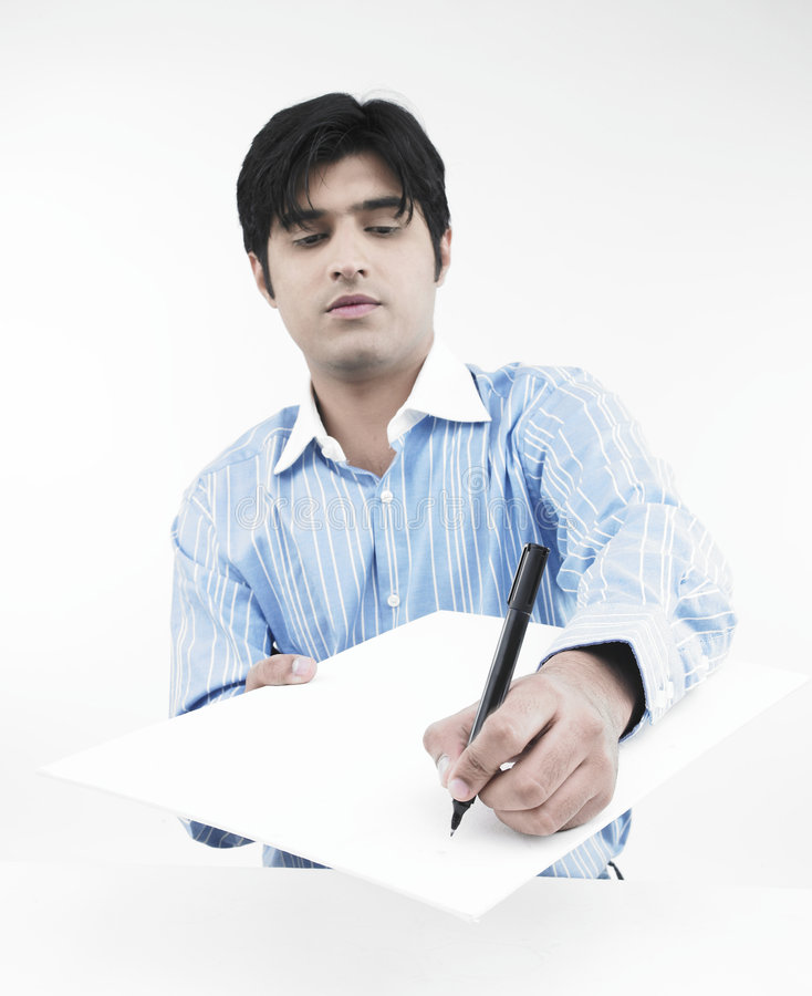 άσπρο γράψιμο προσώπων χαρτ& στοκ εικόνα