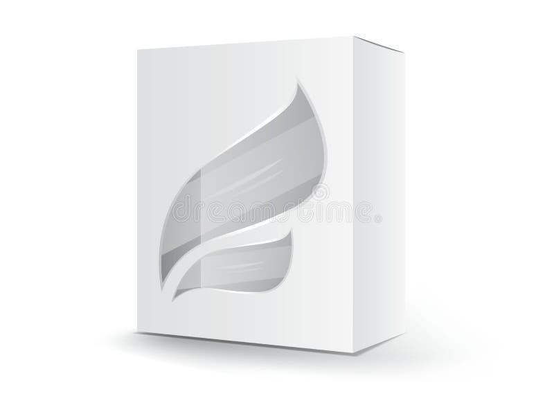 Άσπρο διάνυσμα κιβωτίων συσκευασίας, σχέδιο συσκευασίας, τρισδιάστατο κιβώτιο, σχέδιο προϊόντων, ρεαλιστική συσκευασία για καλλυν διανυσματική απεικόνιση