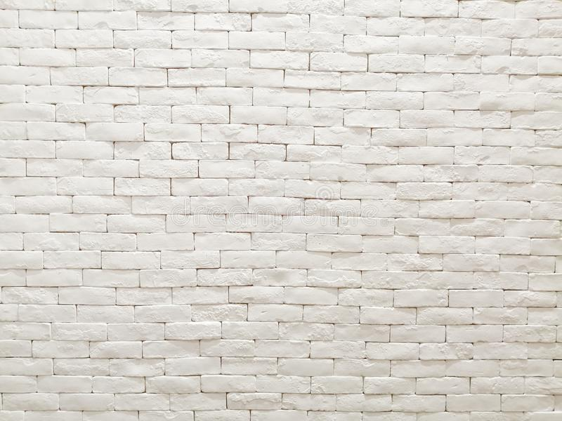 Άσπρο εσωτερικό σχέδιο προσόψεων τουβλότοιχος αργίλου για την ταπετσαρία, το υπόβαθρο και το σκηνικό σχεδίων στοκ εικόνες