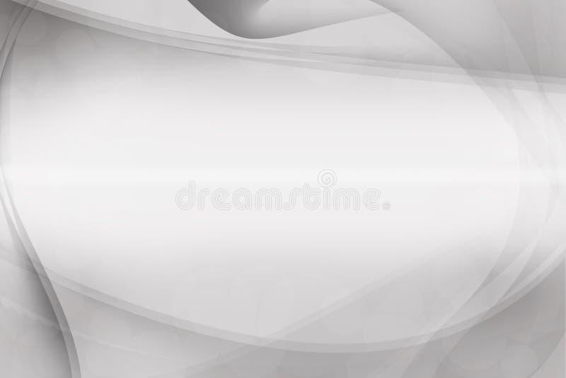 Άσπρο και γκρίζο ασημένιο αφηρημένο υπόβαθρο, υπόβαθρο επαγγελματικών καρτών διανυσματική απεικόνιση