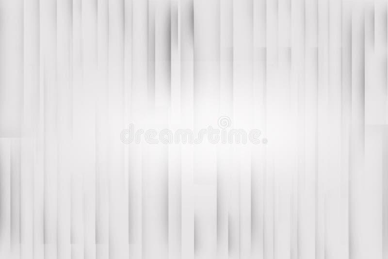 Άσπρο και γκρίζο ασημένιο κυρτό τετραγωνικό αφηρημένο υπόβαθρο γραμμών, υπόβαθρο επαγγελματικών καρτών ελεύθερη απεικόνιση δικαιώματος