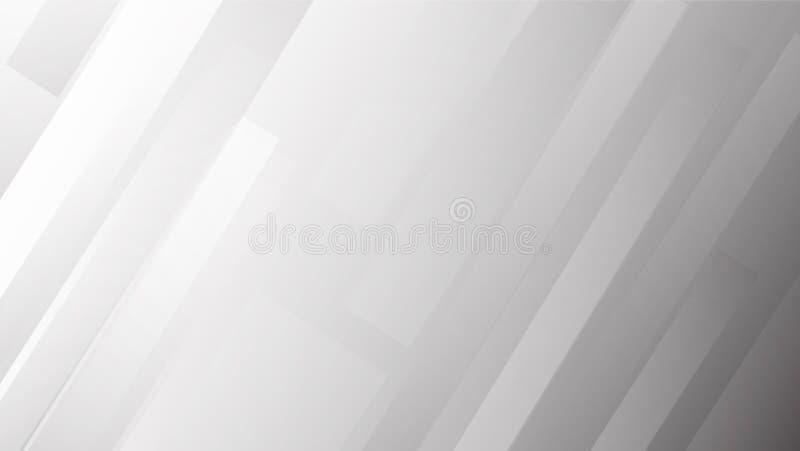 Άσπρο και γκρίζο αφηρημένο υπόβαθρο γραμμών για την παρουσίαση και το πρότυπο, eps10 απεικόνιση αποθεμάτων