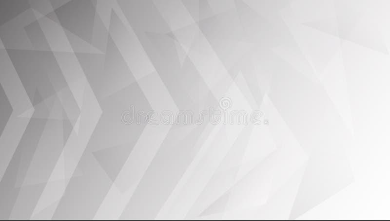 Άσπρο και γκρίζο αφηρημένο υπόβαθρο γραμμών για την παρουσίαση και το πρότυπο, eps10 ελεύθερη απεικόνιση δικαιώματος