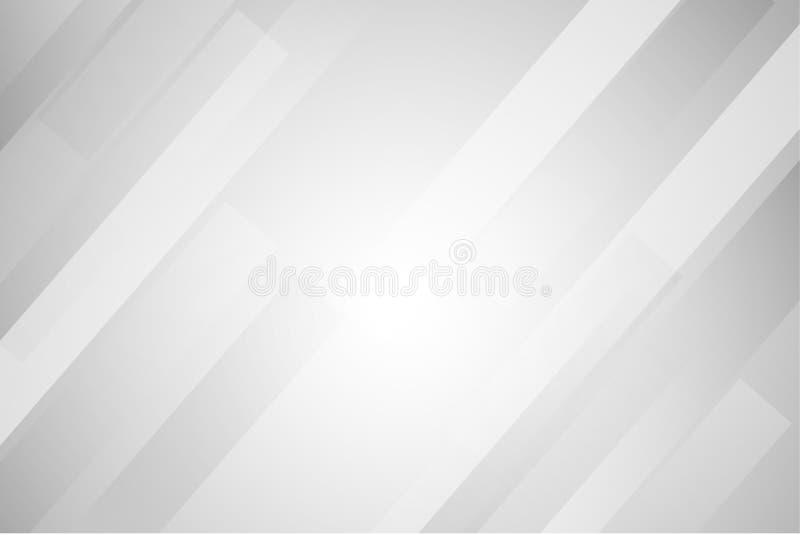 Άσπρο και γκρίζο αφηρημένο υπόβαθρο γραμμών διανυσματική απεικόνιση