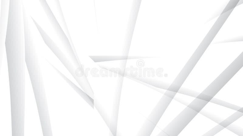 Άσπρο και γκρίζο υπόβαθρο χρώματος Αφηρημένο γεωμετρικό σχέδιο, διανυσματική απεικόνιση απεικόνιση αποθεμάτων