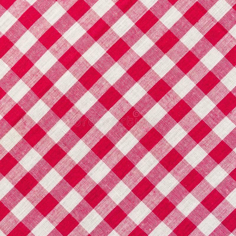 Άσπρο και κόκκινο ελεγμένο υπόβαθρο στοκ φωτογραφία με δικαίωμα ελεύθερης χρήσης