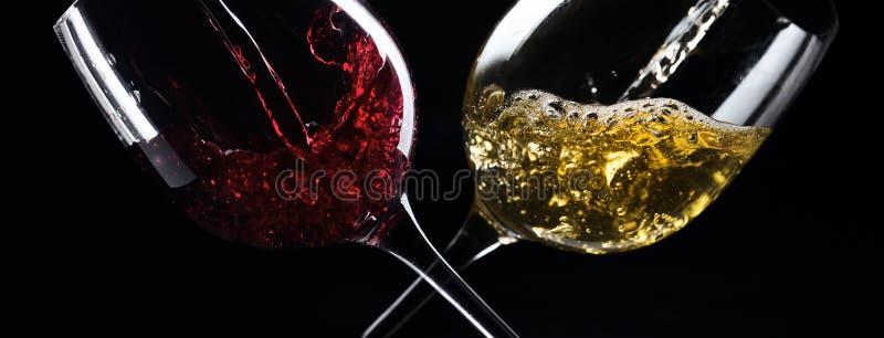 Άσπρο και κόκκινο κρασί στοκ εικόνα
