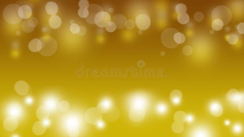 άσπρο και χρυσό αφηρημένο υπόβαθρο φω'των bokeh στοκ φωτογραφία με δικαίωμα ελεύθερης χρήσης