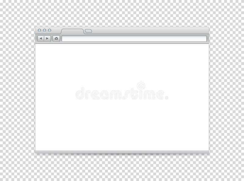 Άσπρο κενό διανυσματικό πρότυπο ιστοχώρου ελεύθερη απεικόνιση δικαιώματος