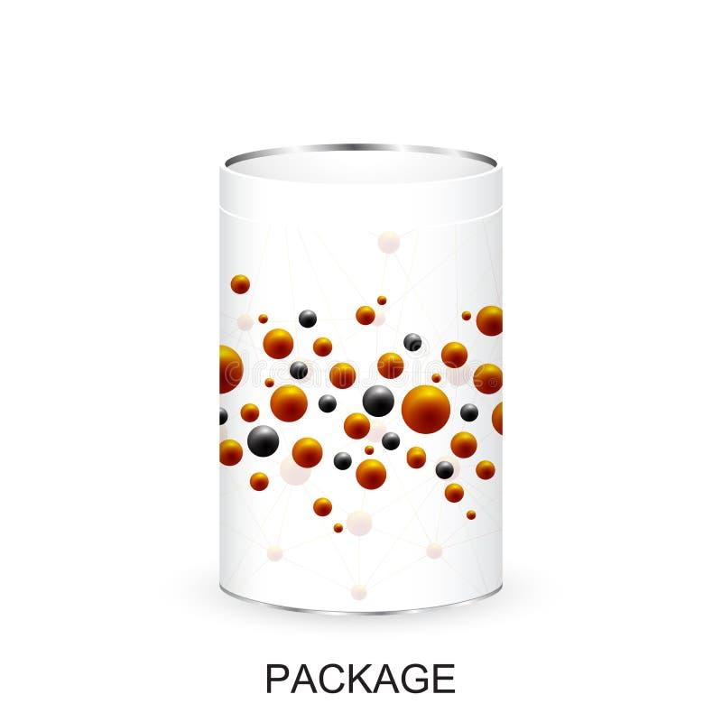 Άσπρο κενό πρότυπο κιβωτίων συσκευασίας χαρτονιού για το νέο σχέδιο Προϊόν που συσκευάζει την τρισδιάστατη ρεαλιστική απομονωμένη διανυσματική απεικόνιση