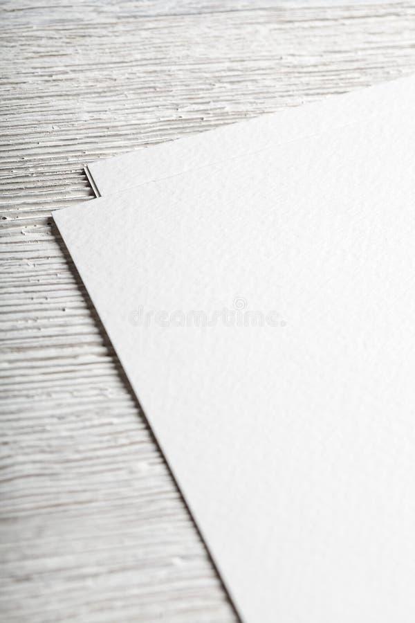 Άσπρο κενό πρότυπο κινηματογραφήσεων σε πρώτο πλάνο σελίδων εγγράφου στοκ φωτογραφίες με δικαίωμα ελεύθερης χρήσης
