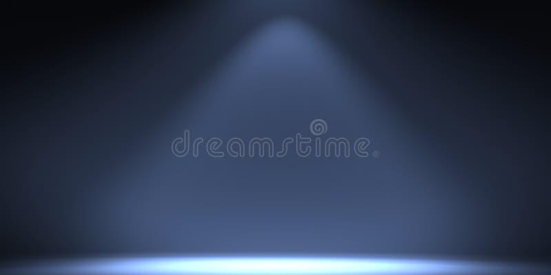 Άσπρο κενό στούντιο φωτογραφιών μιας ορθογώνιας μορφής απεικόνιση αποθεμάτων