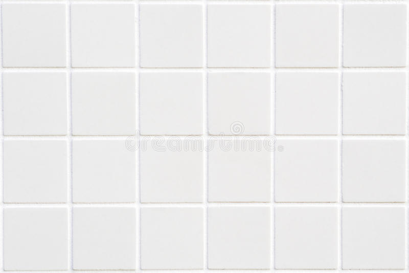 Άσπρο κεραμικό κεραμίδι με 24 τετράγωνα στοκ εικόνα