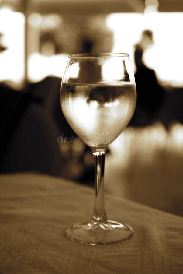 άσπρο κρασί γυαλιού στοκ εικόνα