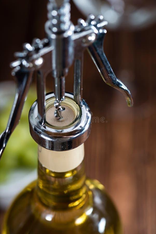 Άσπρο κρασί (εκλεκτική εστίαση) στοκ φωτογραφία με δικαίωμα ελεύθερης χρήσης