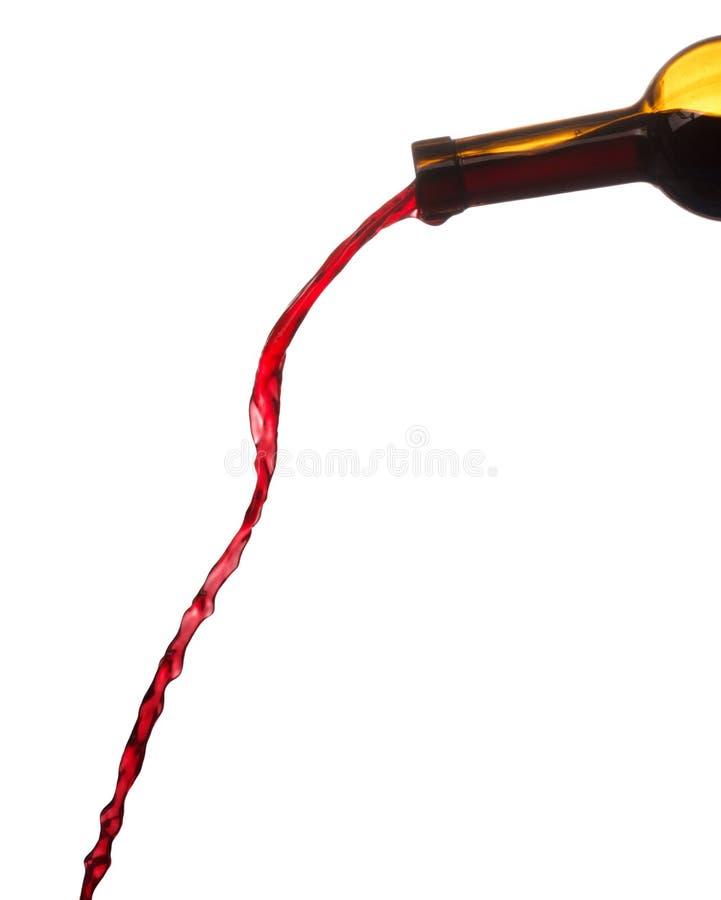 άσπρο κρασί παφλασμών ανασκόπησης κόκκινο στοκ φωτογραφία με δικαίωμα ελεύθερης χρήσης