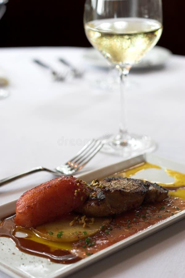 άσπρο κρασί gras fois στοκ εικόνες