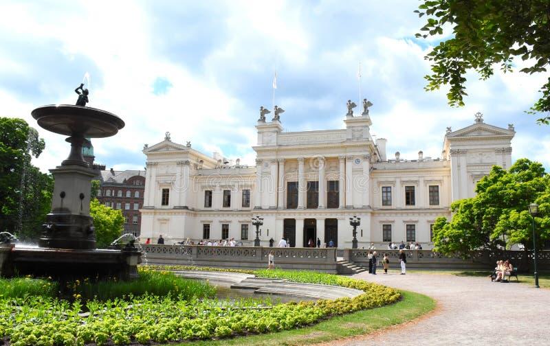 Άσπρο κτήριο στο πανεπιστήμιο του Lund στοκ φωτογραφία με δικαίωμα ελεύθερης χρήσης