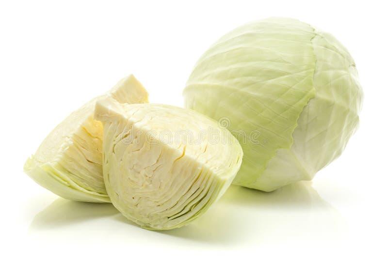 Άσπρο λάχανο στο λευκό στοκ φωτογραφίες με δικαίωμα ελεύθερης χρήσης