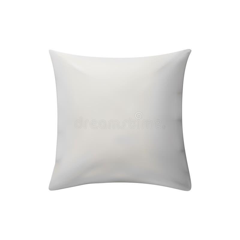 Άσπρο μαξιλάρι επίσης corel σύρετε το διάνυσμα απεικόνισης στοκ εικόνα