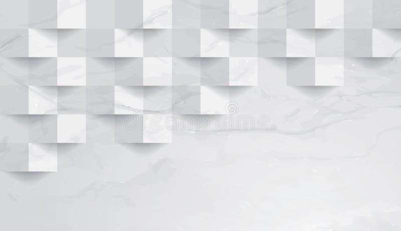 Άσπρο μαρμάρινο διάνυσμα υποβάθρου σύστασης απεικόνιση αποθεμάτων