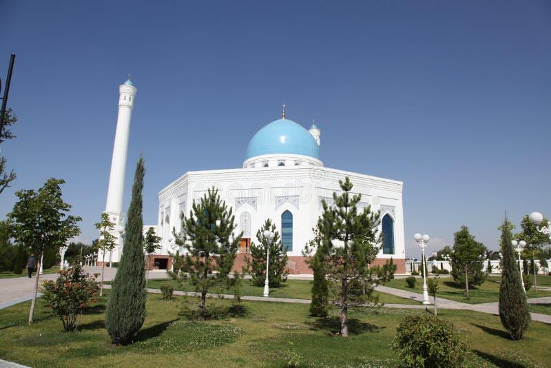 Άσπρο μουσουλμανικό τέμενος στην Τασκένδη στο Ουζμπεκιστάν στοκ φωτογραφίες με δικαίωμα ελεύθερης χρήσης