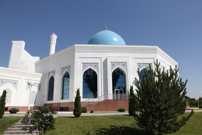 Άσπρο μουσουλμανικό τέμενος στην Τασκένδη στο Ουζμπεκιστάν στοκ εικόνες με δικαίωμα ελεύθερης χρήσης