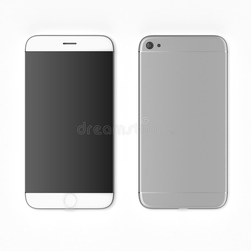 Άσπρο νέο smartphone ελεύθερη απεικόνιση δικαιώματος
