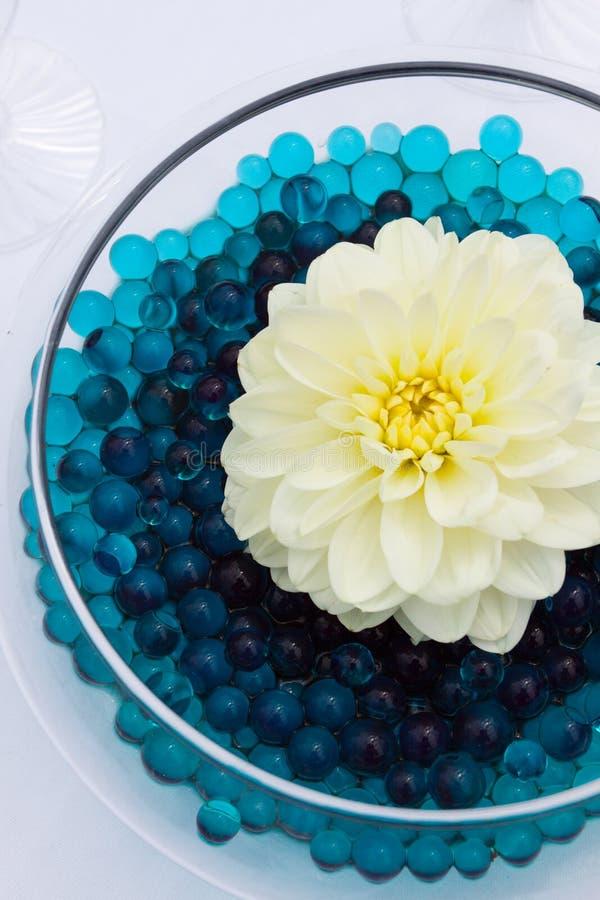 Άσπρο ντεκόρ λουλουδιών στοκ εικόνες με δικαίωμα ελεύθερης χρήσης