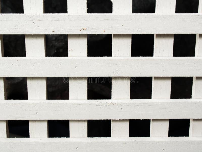 Άσπρο ξύλινο χώρισμα στοκ εικόνα