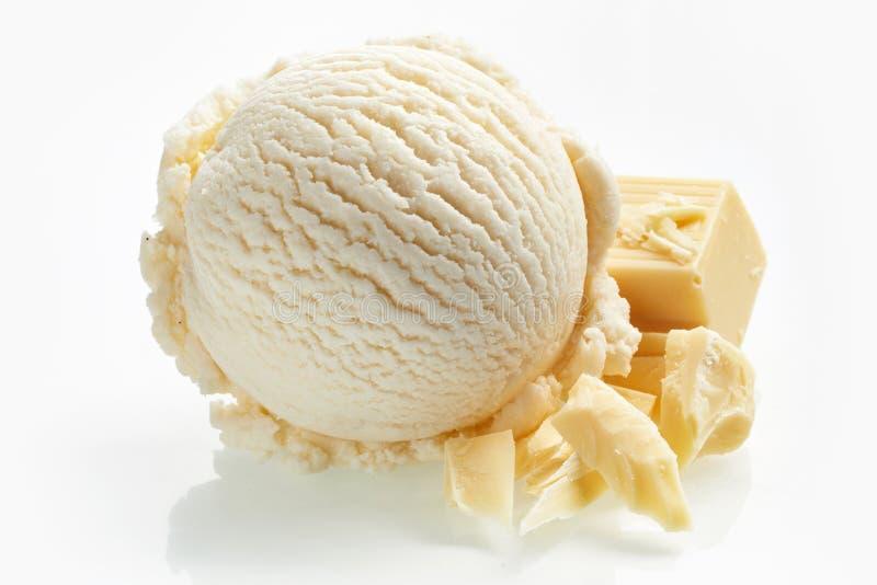 Άσπρο παγωτό σοκολάτας γάλακτος ειδικότητας στοκ εικόνες με δικαίωμα ελεύθερης χρήσης