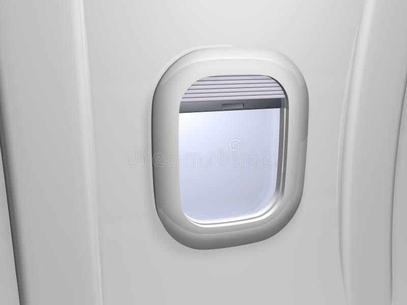 άσπρο παράθυρο αεροπλάνω& διανυσματική απεικόνιση