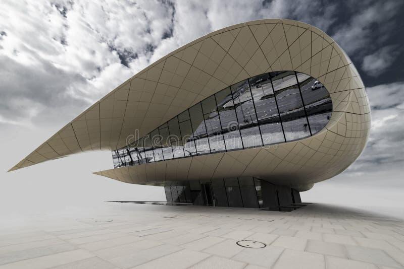 Άσπρο περίπτερο - μουσείο, Ντουμπάι, ο Ιαν. 2018 στοκ φωτογραφία με δικαίωμα ελεύθερης χρήσης