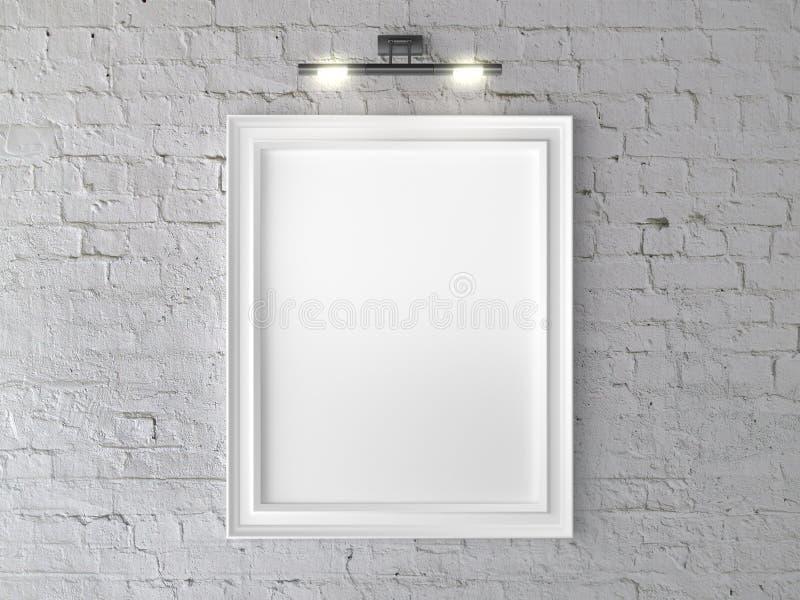 Άσπρο πλαίσιο ελεύθερη απεικόνιση δικαιώματος